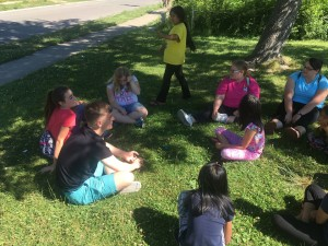Duck, Duck, Goose was a popular Part in the Park game.